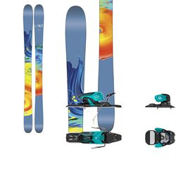 Line Skis Pandora 95 Skis - Women's + Salomon Warden 11 Ski Bindings 2017