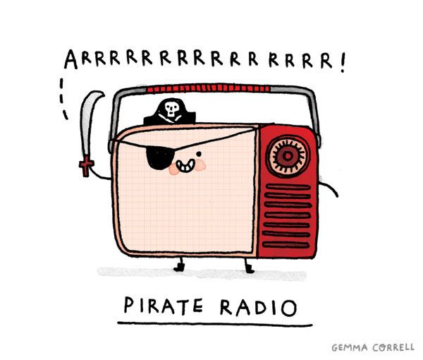 pirate radio by gemma correll, via Flickr