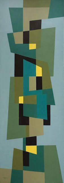 Joost Baljeu (Dutch, 1925-1991), geometric composition, 1954