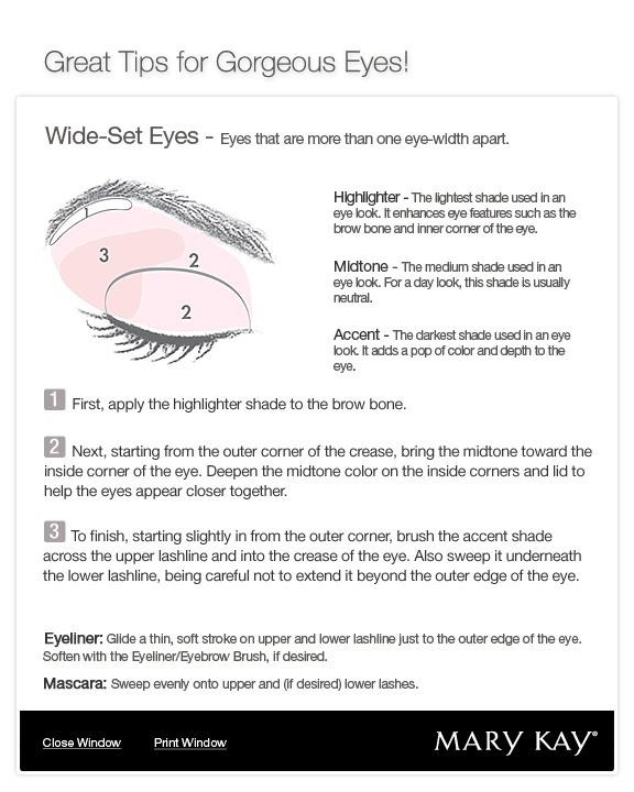 Mary Kay Eye Shadow Color Chart