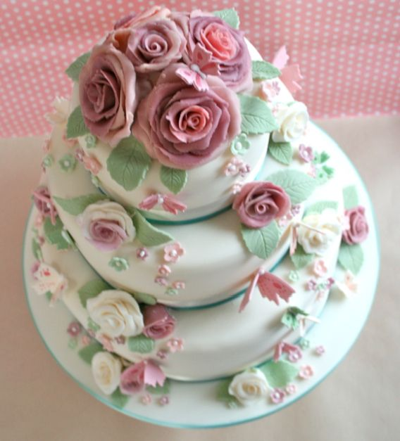 Shabby Chic Cake By The Little Cupboard Via Flickr