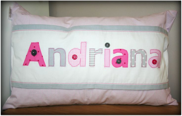 Personalized Name Scatter - for baby Andriana - ideal to brighten any child's room! Great gift idea. Order from Tula-tu Baby Linen - www.tulatu.co.za