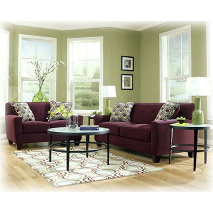 Home Decor Furniture Liquidators: Danielle Eggplant Sofa And Loveseat