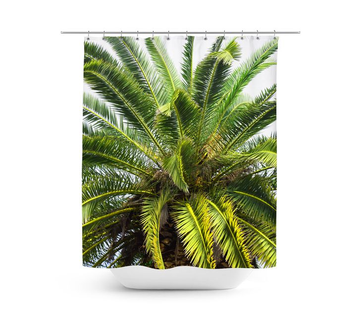 A backdrop of palms for your beach style bathroom settings, this decorative ...