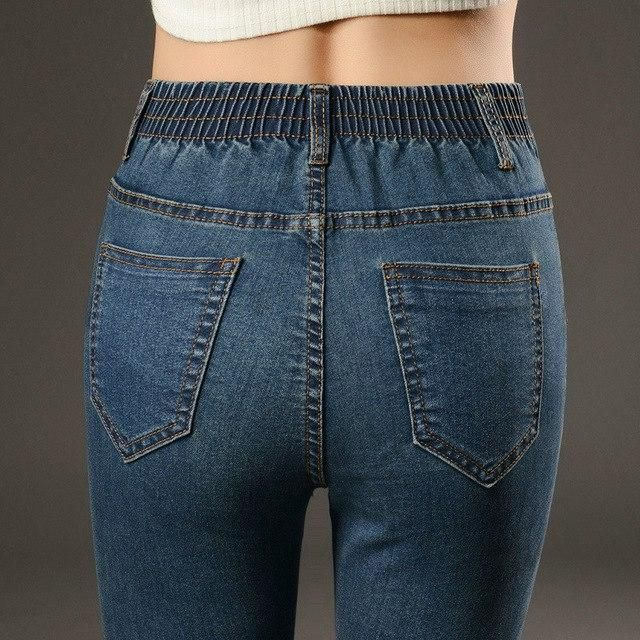 Winter Warm Jeans Cintura Alta Elastico Skinny Fleece Thicken Denim Lapiz Pantalones Mom Jeans Mujer Pantalones Plus Size Nostalg Jeans Mujer Pantalones Skinny