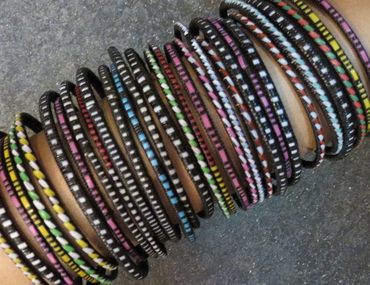 Thin Dogon bracelets, Mali.