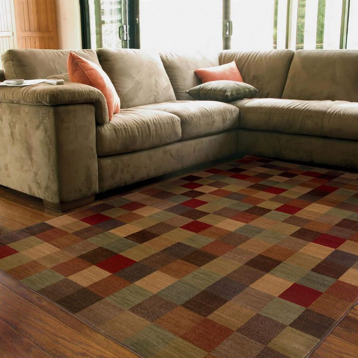 Style Haven Ellington Brown/Red Transitional Area Rug