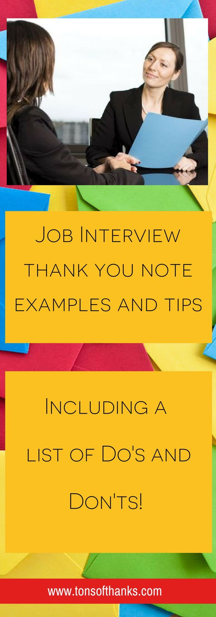 Job interview thank you note examples Also
