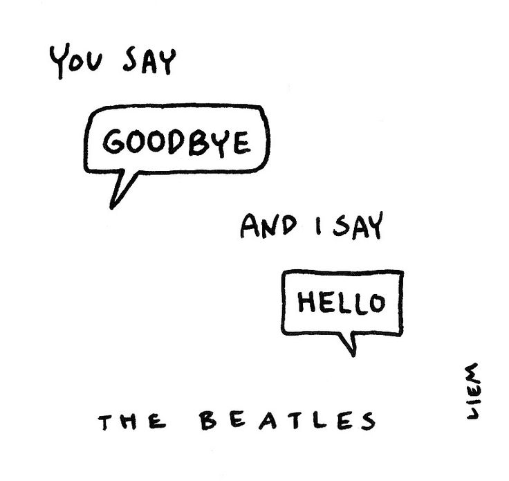 The Beatles. Hello, goodbye. 365 illustrated lyrics project, Brigitte Liem.