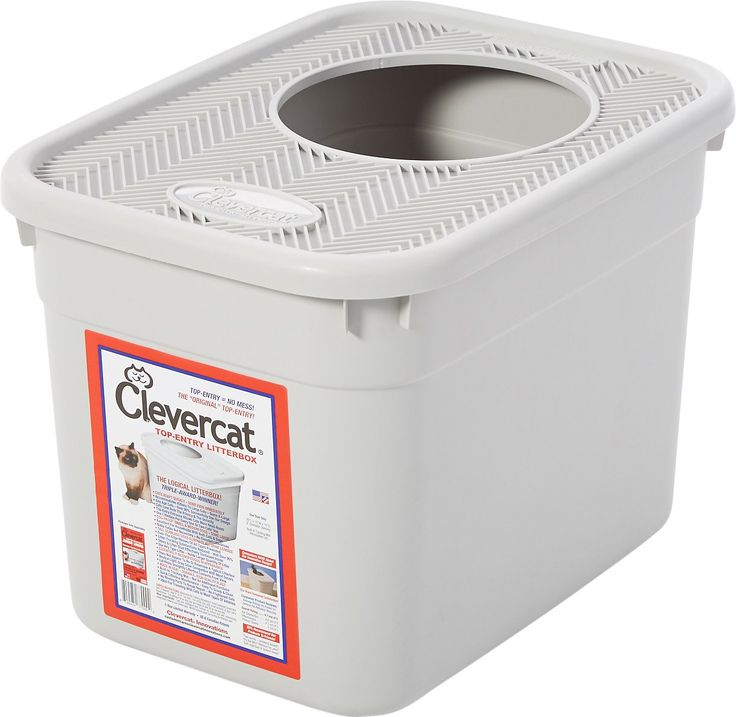Clevercat Top-Entry Litterbox features a unique top-entry design that nearly eliminates tracking, prevents over-the-edge spills and reduces odor. It keeps litter in, making it excellent for cats who love to dig and kick litter. And it keeps most dogs out, perfect for multi-pet homes. Cats and kittens adapt quickly with no training necessary, and they just love the added privacy. Works great on its own and even better with [Clevercat Jumbo Litter Box Liners](https://www.chewy.com&#x2...