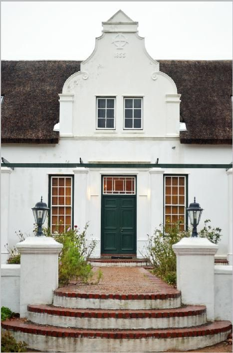 Beautiful Cape (South African) Dutch gable dated 1855 on Basse Provence manor house