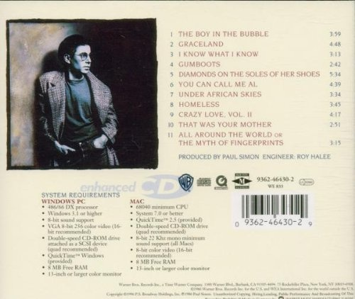 Paul Simon Graceland songs on the album