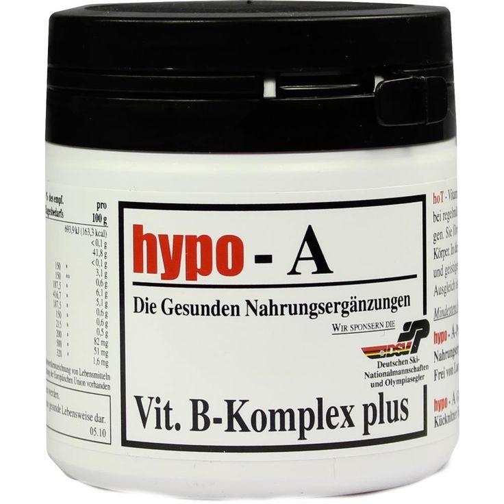 HYPO A Vitamin B Komplex plus Kapseln:   Packungsinhalt: 120 St Kapseln PZN: 00267163 Hersteller: hypo-A GmbH Preis: 21,79 EUR inkl. 7 %…