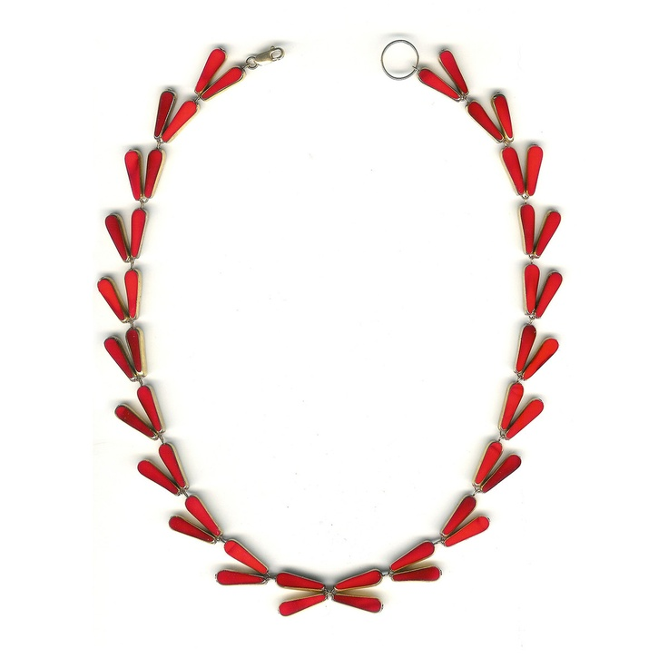 Fab.com | Leaves Necklace by Roni Kappos // $775Leaves Necklaces, Glasses Beads, Jewelry Necklaces, Fab Com, Ronnie Kappos, German Glasses, Beads Jewelry, Leaf Necklaces, Necklaces Red