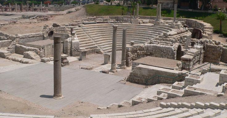 Anfiteatro romano de Kom el-Dikka en Alejandría, Egipto (s.III-IV dC - descubierto en 1960)