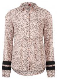 Geweven blouse roze  - chion stof  - handgetekend mini patroon  - sportieve mouwdetail in contrast stof  - knoopsluiting  - recht model  EUR 79.95  Meer informatie