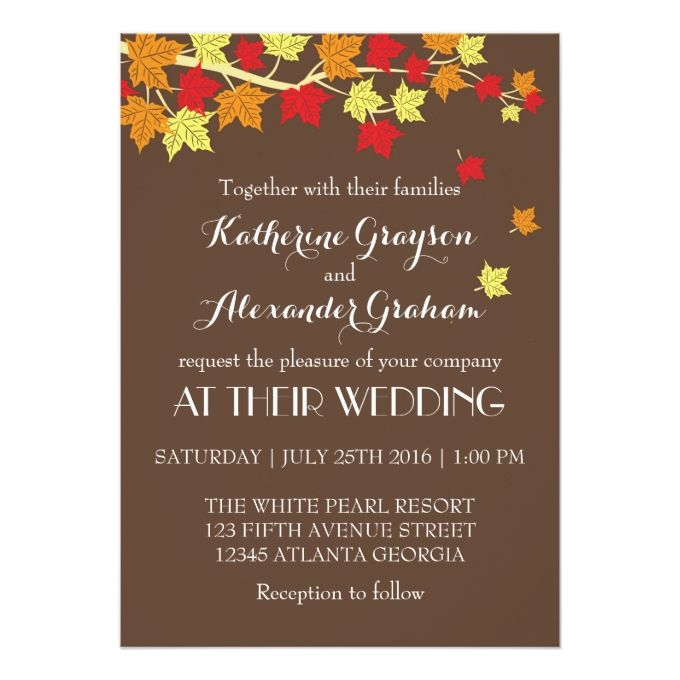 2163 best images about Fall Wedding Invitations – Fall Party Invitation Template