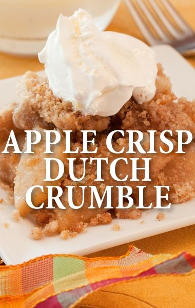 Are you looking for a fresh fall dessert? Look no further than Joe Isidori's Apple Crisp Recipe, topped with a Dutch crumble, as seen on Today Show. http://www.recapo.com/today-show/today-show-recipes/today-show-joe-isidori-apple-crisp-dessert-recipe-dutch-crumble/