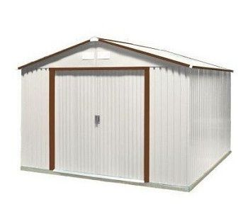 Increase your storage space with this attractive metal shed.  The duramax sheds are heavy and high quality. A great way to store your tools, garden supplies, lawn mower or firewood.