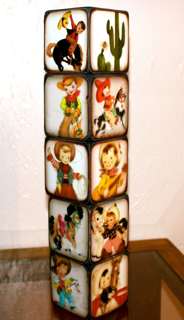 Little Cowboy Blocks. Love these for a little boys room!