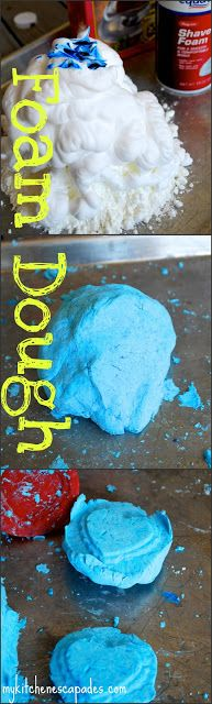 Foam Dough - My Kitchen Escapades - a simple and easy activity for kids in the summer when they are bored