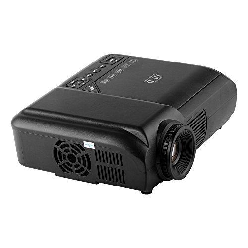FastFox LED DVD Projector 60 Lumens 320×240 Multimedia Home Movie Business Beamer Support USB TV Movie DVD CD