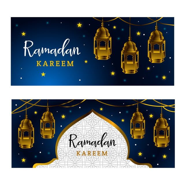 Blue Ramadan Kareem Banner Template Template With Gold Lantern Ramadan Kareem Print Design Template Ramadan