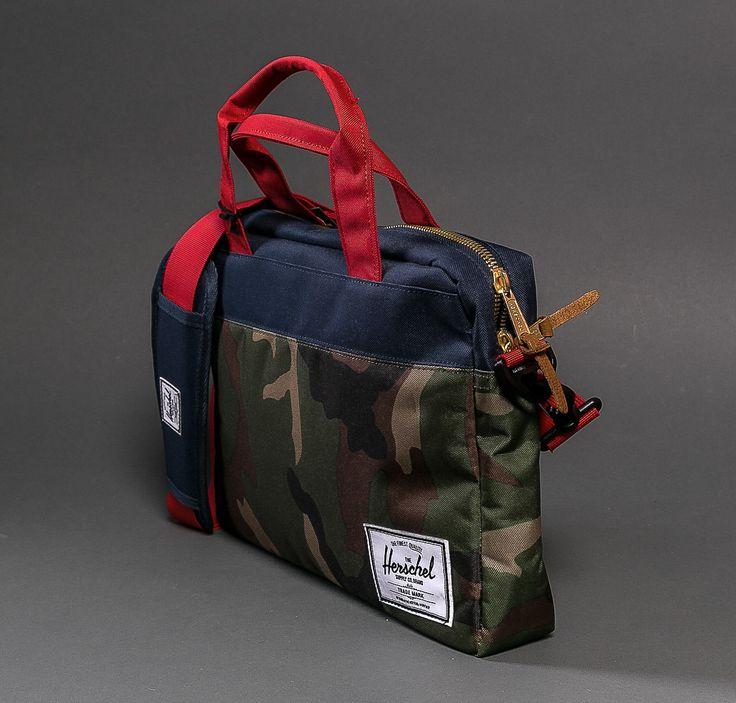 HERSCHEL Supply Co. Hudson Messenger Bag Tasche camo navy red - 10137-00001 NEU   eBay