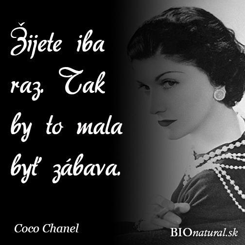 Citát od Coco Chanel
