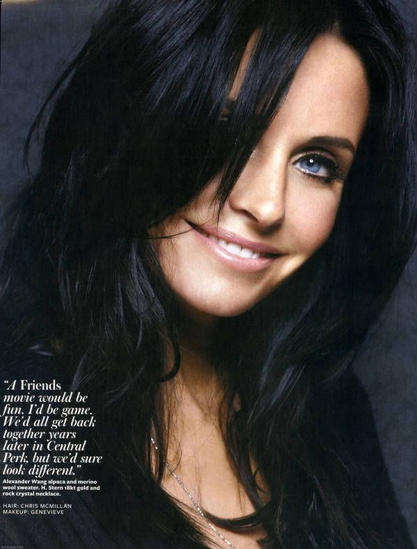 i still love this layered cut. Courtney Cox InStyle US August 5