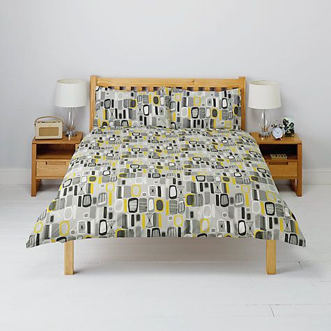 Buy John Lewis Retro Print Duvet Cover and Pillowcase Set Online at johnlewis.com