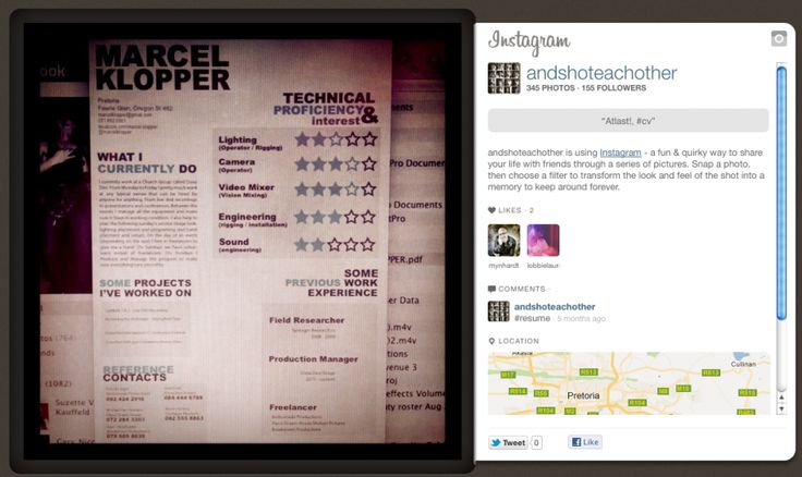 23 cool resumes we found on instagram