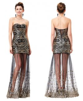 Black and golden evening dress by Grace Karin ♥  Treat yourself on Bestmoda.eu