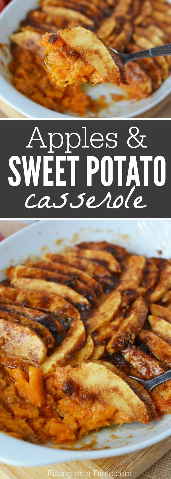 Try this Easy Sweet Potato Casserole Recipe with Apple. It is the perfect side dish! You will love this Easy Sweet Potato Casserole Recipe!