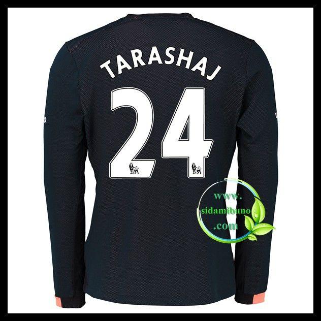 Fotballdrakter Everton Langermet TARASHAJ #24 Bortedraktsett 2016-2017