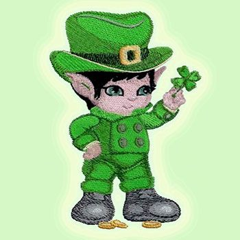 Sprinkle the luck of the Irish with this fine little fellow and his four-leaf clover.