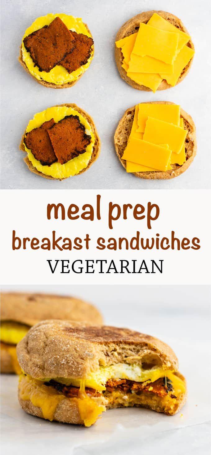 Meal Prep Vegetarian Breakfast Sandwich These Easy English Muffin Breakfast Sandwiche Vegetarian Meal Prep Breakfast Sandwich Recipes Vegetarian Recipes Easy