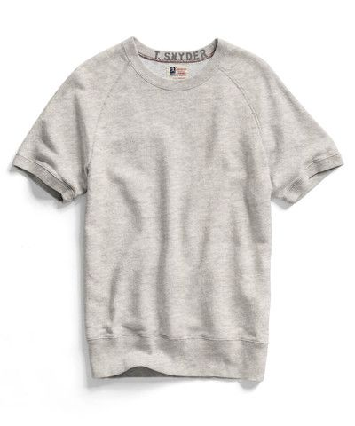 Oatmeal Heather Short Sleeve Sweatshirt by Todd Snyder