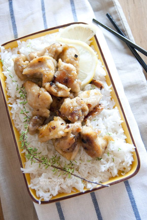 Pollo al limone con riso basmati 2