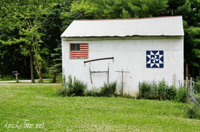 Antique Window Framed Flag Display - Knick of Time at KnickofTime.net
