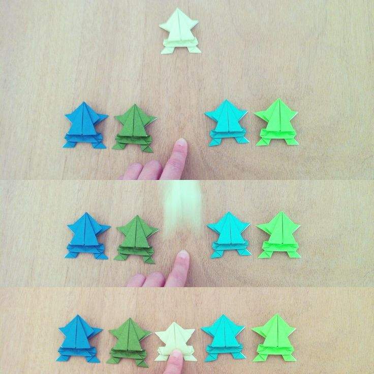 Three, two, one, go! #frog #jump #origami #paper #challenge