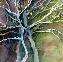 Linda Kemp ... a master at negative painting in both acrylic and watercolor... JMHO.