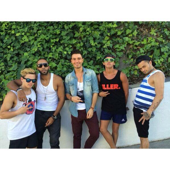 Daniel, Manny, Faydee, Beau and Ronnie