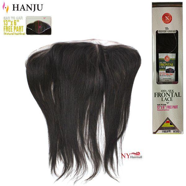 Hanju Nix & Nox 100% Virgin Remy Hair Silk Frontal Lace Closure - H-Frontal Lace Remy Straight