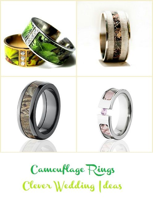 Great camo wedding rings see more at cleverweddingideas