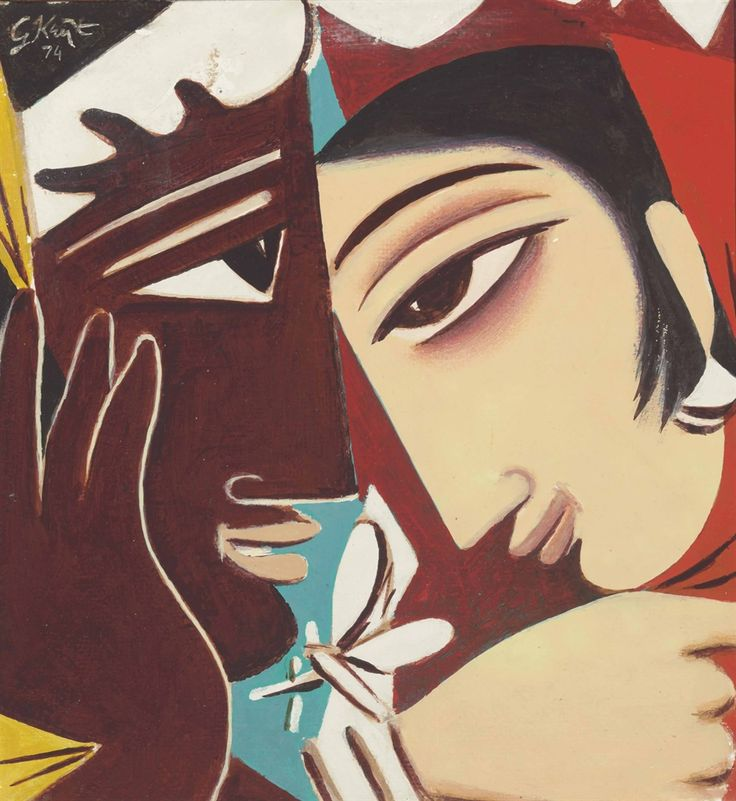 GEORGE KEYT (1901-1993) NAYIKA AND THE LOVER