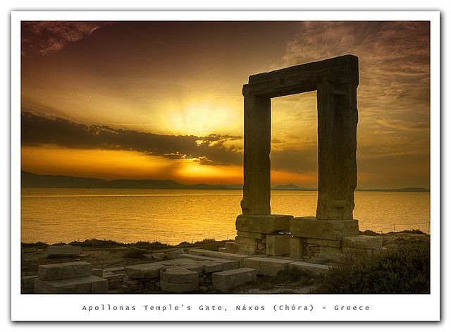 Apollonas Temple's Gate, Greece