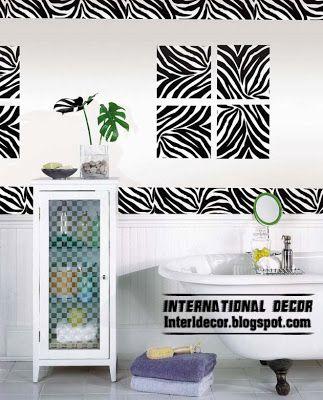Zebra print bathroom decor ideas for the black and white bathroom upstairs
