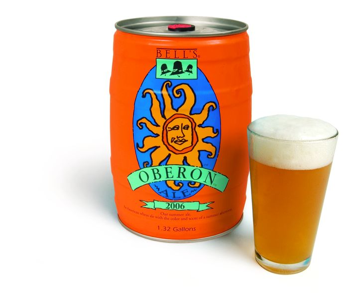 Nothing says summer like Bell's Brewery Oberon. A wheat ale with a spicy hop character and fruity aroma.