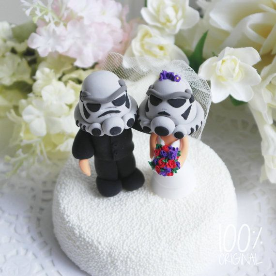 Custom Wedding Cake Topper  Star troopers couple by 100original, $120.00